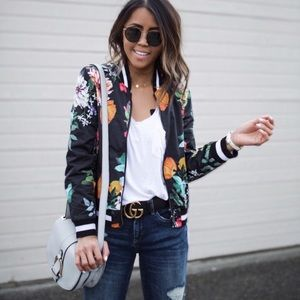 Blank NYC Reversible Wild Orchid Bomber Jacket